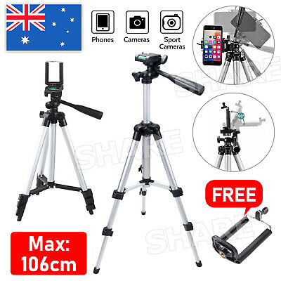 AU19.95 • Buy Adjustable Camera Tripod Mount Stand + Holder For IPhone 11 Pro XS Samsung S20