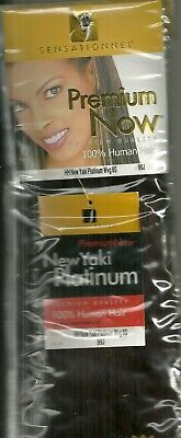 Premium Now New Yaki Platinum 100% Human Hair 99J • 25£