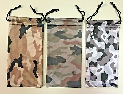 $4.99 • Buy Microfiber Pouch Bag Soft Cleaning Case Sunglasses Military Camo Colors