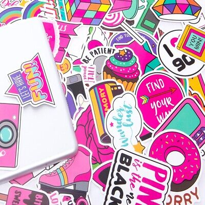 $4.99 • Buy 52pc Cute Stickers Pink Girl Waterproof Stickers For Hydro Flask Laptop Suitcase