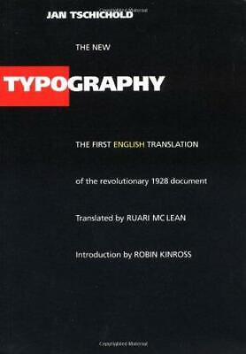 The New Typography: A Handbook For Modern Designers (Weimar & Now: German Cultur • 12.56£