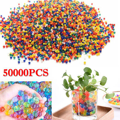 AU18.99 • Buy 50000pcs Crystal Water Balls Jelly Gel Beads For Vases Orbeez Multi Colors