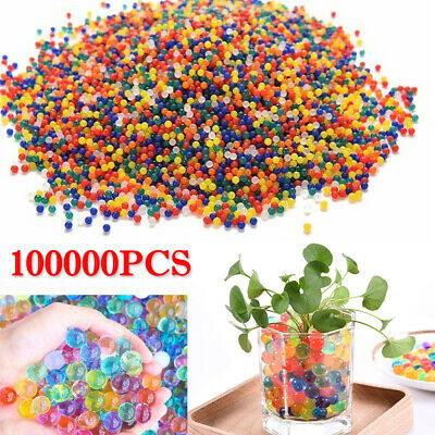 AU23.99 • Buy 100000pcs Crystal Water Balls Jelly Gel Beads For Vases Orbeez Multi Colors