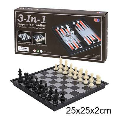 New Magnetic Folding Chess Board Portable Set High Quality Games Camping Travel • 8.39£