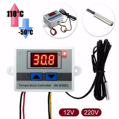 Incubator Digital Temperature Controller Thermostat Control W/ Switch+Probe IR • 6.39£