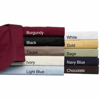 5 PC Duvet Cover Set+Fitted Sheet Euro King Ikea &Color 1000 TC Egyptian Cotton  • 101.99£
