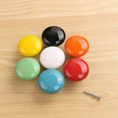 Colourful Door Knobs Ceramic Glass Cupboard Cabinet Drawer Pull Handles 1/4pcs • 5.69£