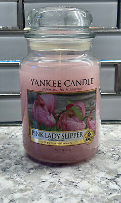 Yankee Candle Pink Lady Slipper Floral Candle 22oz Jar Retired Fragrance • 67.38£