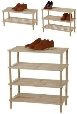 AU19.85 • Buy Wooden Shoe Rack Shelf Organiser Small Storage Upright Stackable Stand