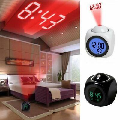 Alarm Clock Time Temperature Projector LED Digital Voice LCD Projection O3P9 • 5.28£