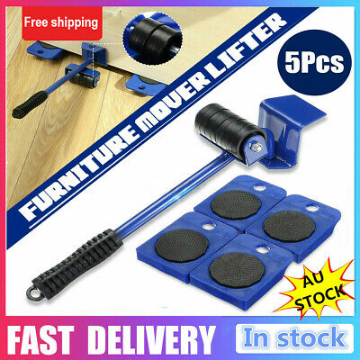 AU17.39 • Buy AU 5x Furniture Slider Lifter Moves Wheels Mover Kit Home Moving Lifting System