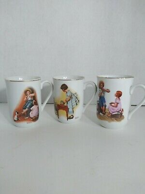 $ CDN14.52 • Buy 1981/82 Norman Rockwell Mugs Set Of 3 Party Time, Music Maker And Music Master