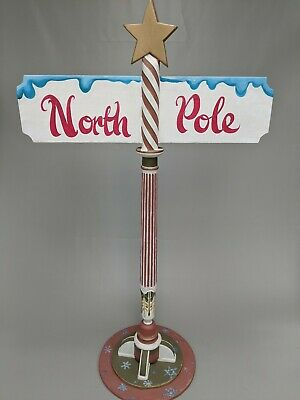 Santa's Grotto And North Pole Sign Vintage Style Prop Christmas • 350£
