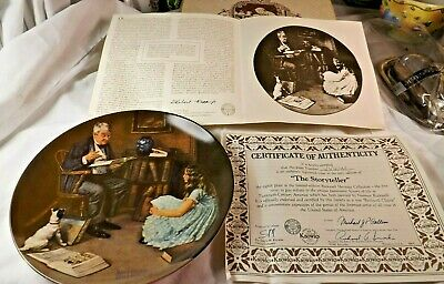 $ CDN26.65 • Buy Knowles Norman Rockwell Collector Plate The Storyteller Heritage Collection 1984