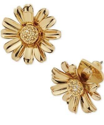 $ CDN49.10 • Buy $48 Kate Spade INTO THE BLOOM Flower Stud Earrings Gold  Tone 5/8  Q3