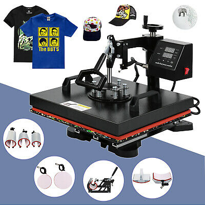 AU298.30 • Buy 8 In 1 Digital Heat Press Transfer T-Shirt Mug Hat Sublimation Printing Machine