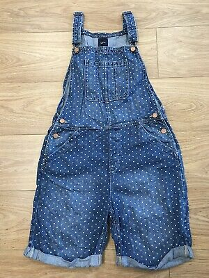Girls Shorts Dungarees Age 12 To 13 Years Gap Kids Blue Denim Dotted E875 • 12.99£