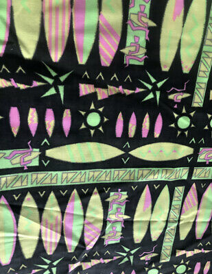 £4 • Buy A Very Bright Neon Aztec Print Poly  Cotton Fabric, Perfect For Board Shorts!