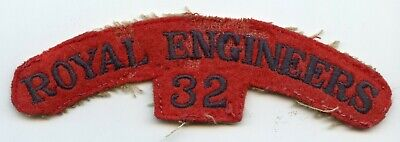 WW2 32 Royal Engineers Shoulder Title      (box 2 10 ) • 16£