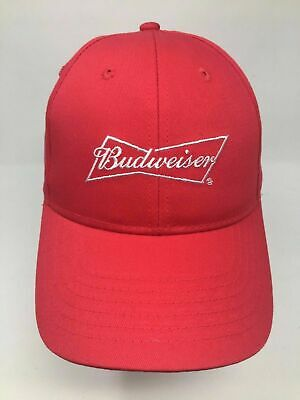$ CDN4.96 • Buy NEW Adults Red Budweiser One Size Fits All Adjustable Baseball Hat Cap