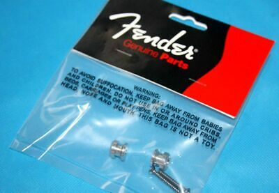 $ CDN11.43 • Buy 2 Genuine USA Fender Strap Lock Button CHROME For Schaller Grover Guitar Bass