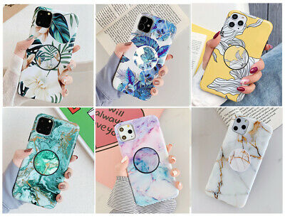 AU13.98 • Buy MultiColor Marble Stand Holder Soft Case Cover F IPhone 11 Pro MAX X 8 6S XS XR