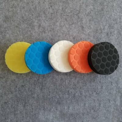 Set Of 5x 6  6 Inch 150mm Hex Logic Type Polishing Pads DA Rotary Polisher New • 4.19£