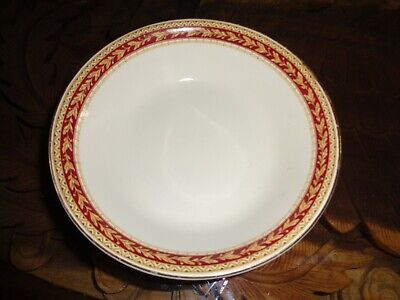 Sampson Bridgwood Lifelong Ironstone England Dessert Bowl Red & Gold Rim  • 9.99£