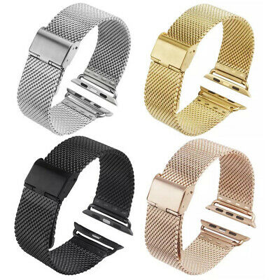 AU13.98 • Buy Stainless Steel Mesh Milanese Loop Strap IWatch Band For Apple Watch 40/44/42/38