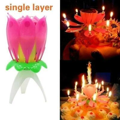 $ CDN5.96 • Buy Singing Birthday Lotus Candle Flower Music Party Light Glow Mechanical Cake Best