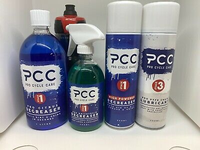 Pro Cycle Care Bike Cleaning Kit Citrus Degreaser High Pressure Clean PTFE Oil • 44.56£