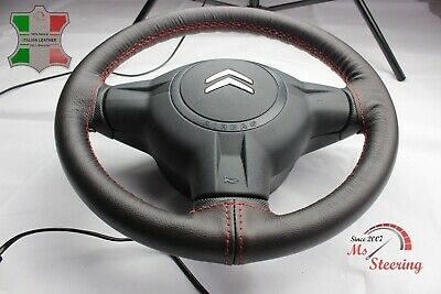 $39.06 • Buy For Land Rover Discovery 2 98-04 - Brown Leather Steering Wheel Cover, Red 2 Sti