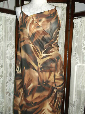 Saress The Ultimate Beach Dress Havana Wild Brown Black Gold Print Size XL NIP • 6.40£