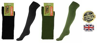 £4.50 • Buy New Men's Military Padded Sole 45% Wool Rich Army Combat Boot Long Socks UK 6-11