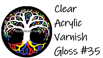 Humbrol Matched No.35 Clear Gloss Acrylic Varnish  15ml  : Roots Model Paint  • 2.49£