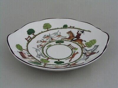 Coalport Hunting Scene Shallow 6 1/2  Sweet Bowl. • 9.99£