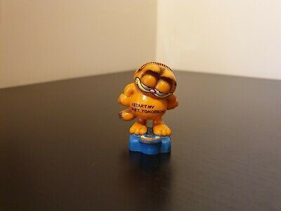 Vintage Garfield On Weight Scales Figure By Bully West Germany 1978 1981 • 12£