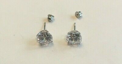 $131.50 • Buy 3 Cts Total Round Flawless Man Made Diamond Stud Earrings 14k Solid White Gold