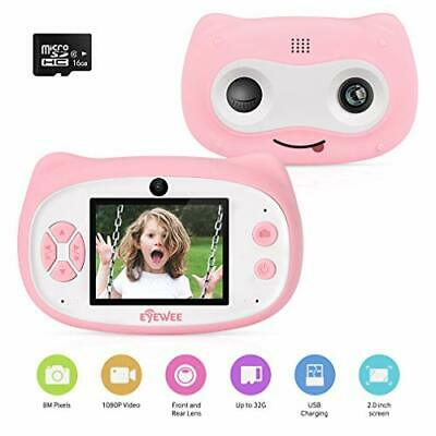 Eyewee Kids Camera Gift For 3-8 Year Old Girls Rechargeable Toy Camera Duo • 29.99£