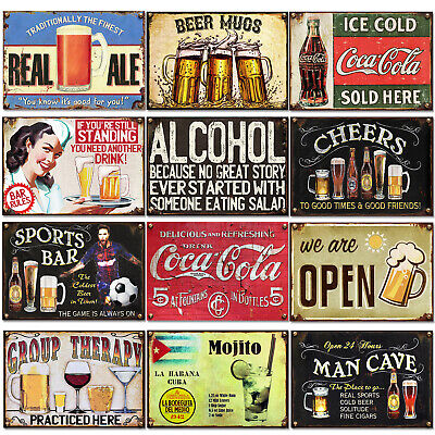 Signs Metal Plaque Vintage Pub Tiki Bar Home Beer Wall Beer Retro Club Man Cave • 5.89£