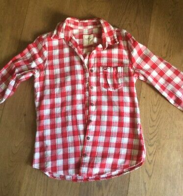 Women Hollister Red White Checked Shirt Size Small • 5.25£