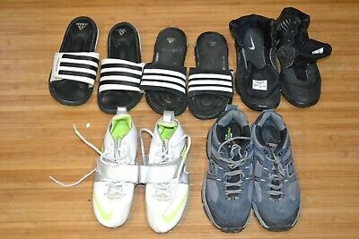 $ CDN21.36 • Buy Lot Size 8.5 Shoes Nike Lacrosse Cleats Sketchers Adidas Slides Slippers