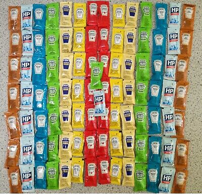 Heinz & Hp Mixed Sauce Sachets 10 To 100 Portions Pick N Mix Promo Lowest Prices • 7.49£