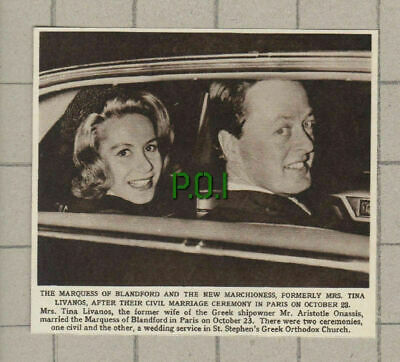 $ CDN11.63 • Buy (4464) Marquess Of Blandford & New Wife Mrs Tina Livanos Onassis   - 1961 Clip
