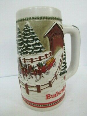 $ CDN13.08 • Buy Budweiser Holiday Stein The Hitch Passing -  Covered Bridge 1984