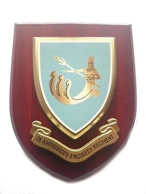 28 Amphibious Engineers Regiment Wall Plaque Mess Shield • 22.99£