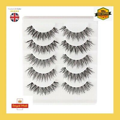 5 Pairs Of 3D Mink False Eyelashes Natural Looking Wispy Lashes ❤️#5 • 3.54£