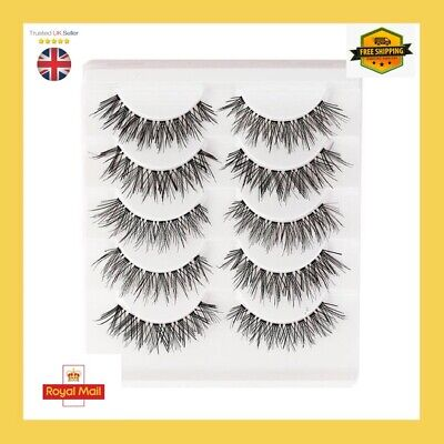 5 Pairs Of 3D Mink False Eyelashes Natural Looking Wispy Lashes ❤️#5 • 2.98£