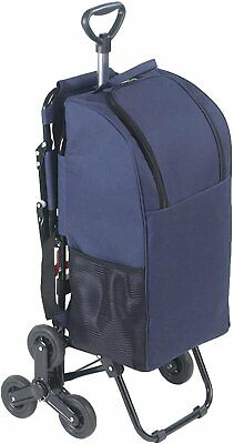 £64.99 • Buy WENKO Shopping Trolley With Seat & 3-wheel System Stairs, Blue, Aluminium Frame