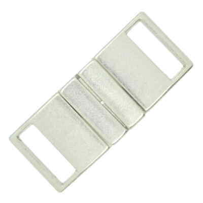 METAL BELT CLASP BUCKLE MATT SILVER 20mm • 2.35£